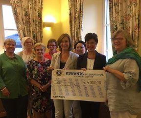 Kiwanis Club Alstad unterstützt Kannerduerf Miersch