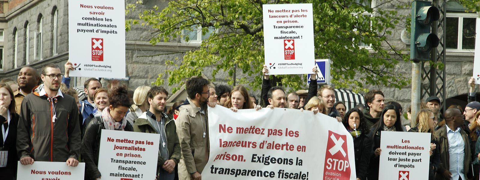 La manifestation ce jeudi devant l'ambassade de Copenhague.