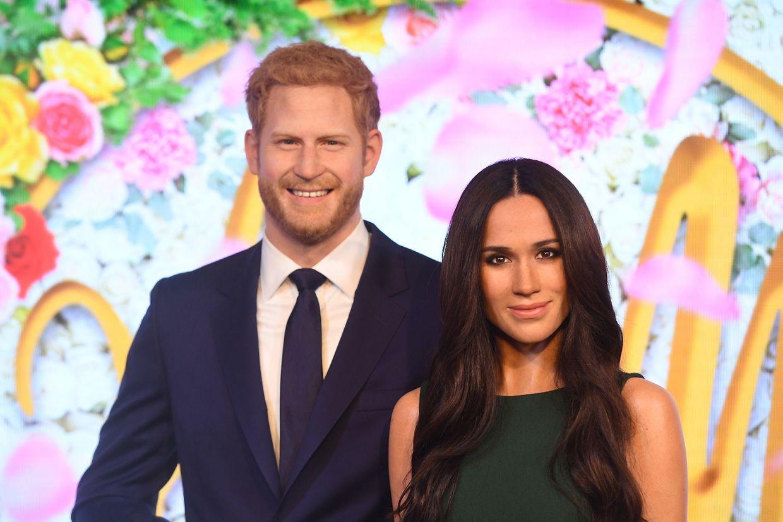 Wachsfiguren von Prinz Harry und Meghan Markle werden im Wachsfigurenkabinett  bei Madame Tussauds ausgestellt. Die Hochzeit der beiden findet am 19.05.2018 statt.