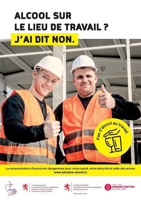 Comme cette campagne de 2019, le ministère de la Santé va promouvoir la prévention face à l'abus d'alcool qui reste une des causes principales d'absentéisme au travail.