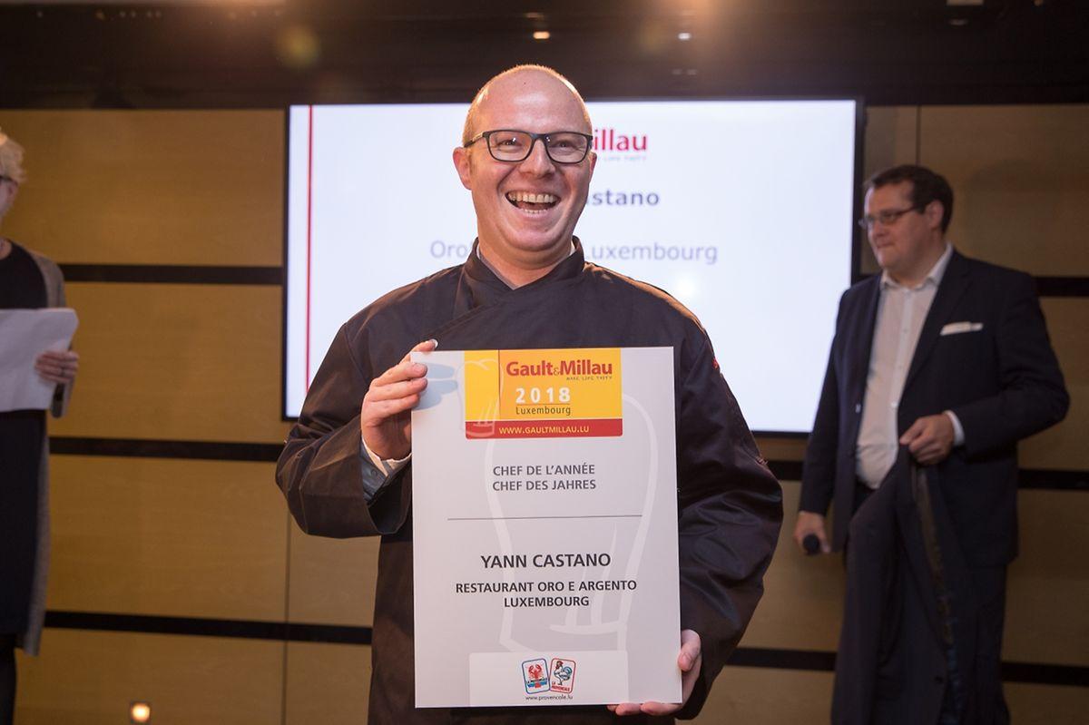 Yann Castano lors de la soirée de gala Gault&Millau le 23 octobre: la consécration.