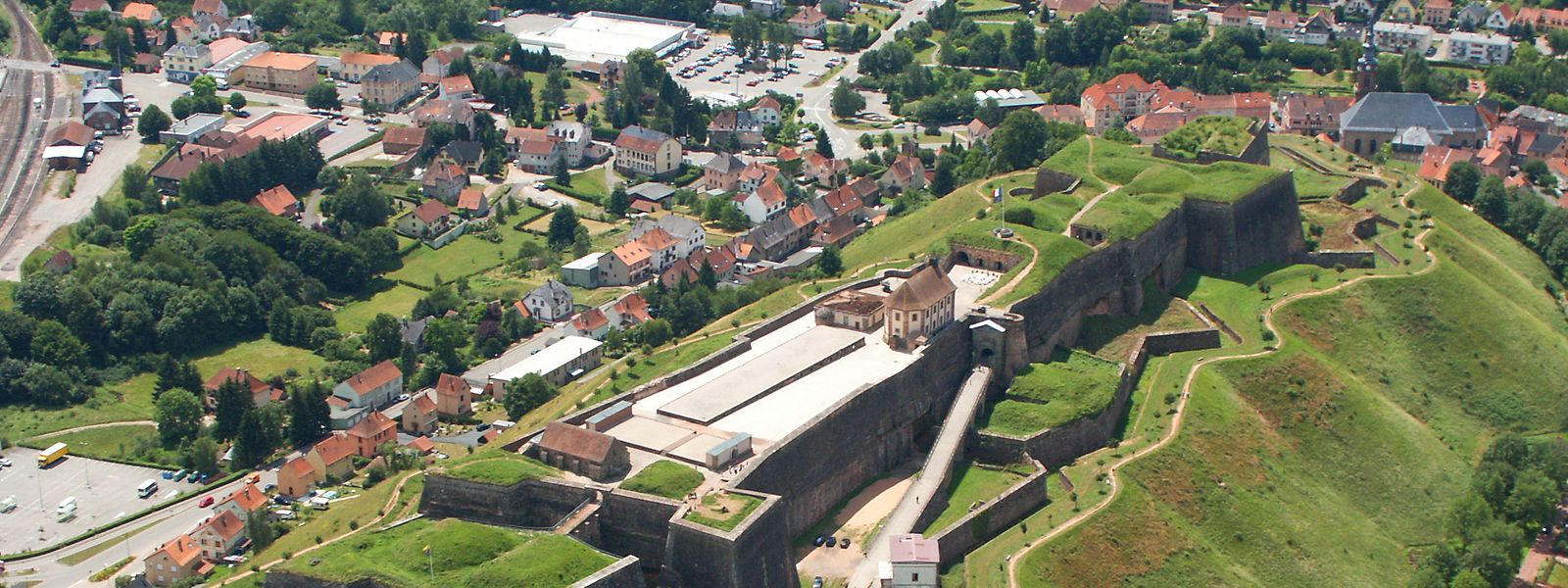 Komplett Facebook-konform: die Citadelle de Bitche, erbaut von Vauban.