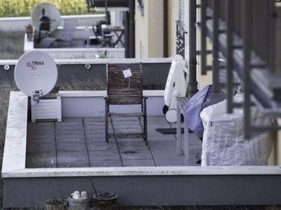 Das Opfer hatte am Abend des 24. September 2016 auf dieser Fentinger Terrasse gesessen, als das Projektil es ins Gesicht getroffen hatte.