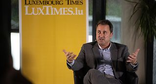 Prime Minister Xavier Bettel in conversation with the Luxembourg Times