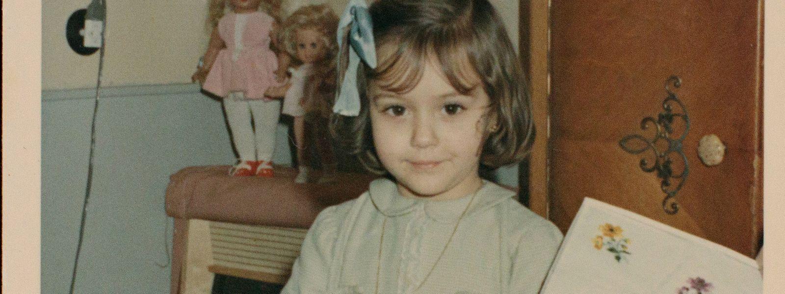 Isabel Wiseler-Lima com quatro anos, um ano depois de chegar ao Luxemburgo.