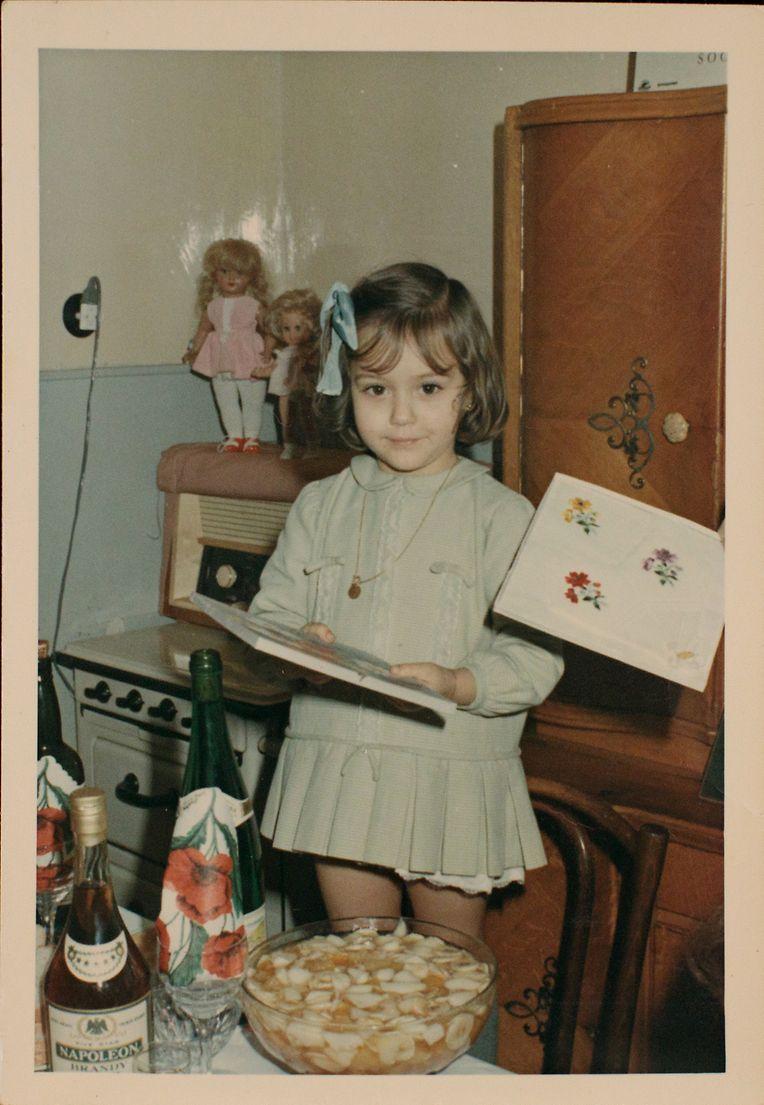 Isabel Wiseler-Lima com quatro anos, no primeiro aniversário que passou no Luxemburgo.