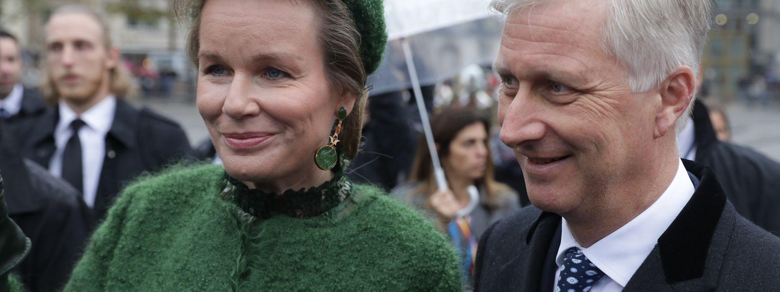 Königin Mathilde und König Philippe langweilen sich auch am Donnerstag nicht.