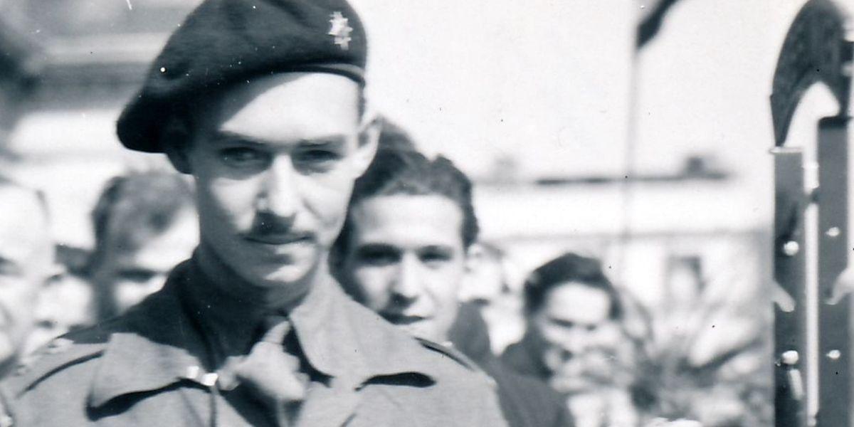 Le prince Jean à Dudelange en 1944.