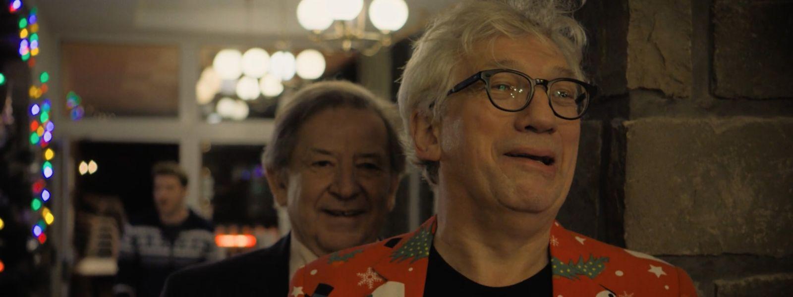 """Änder Jung und Germain Wagner, die beiden Geschäftspartner von """"Alter Native"""" bei der Weihnachtsfeier im Hotel Dirbach-Plage."""