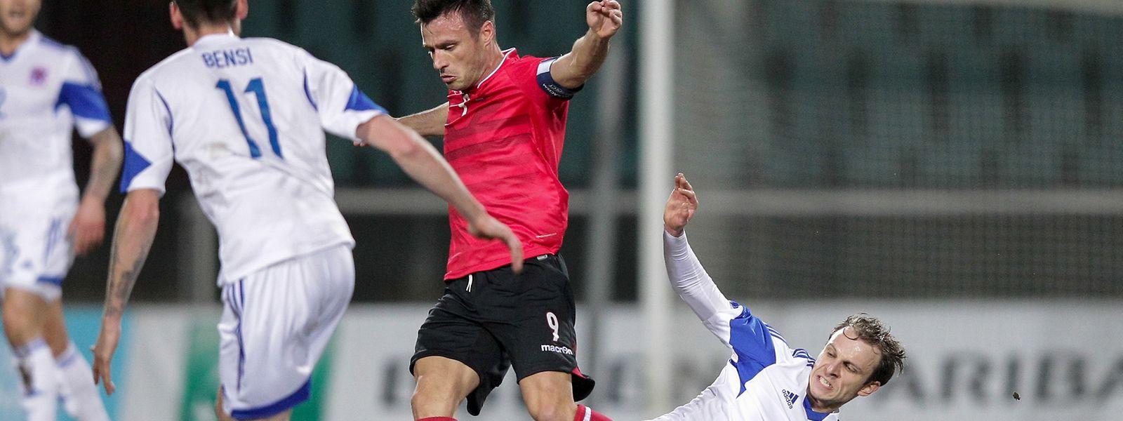 Lars Gerson (r.) zeigte gegen Albanien großen Einsatz.
