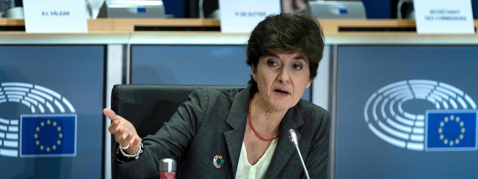 Sylvie Goulard am Donnerstag bei einer eineinhalbstündigen Anhörung im Europaparlament.