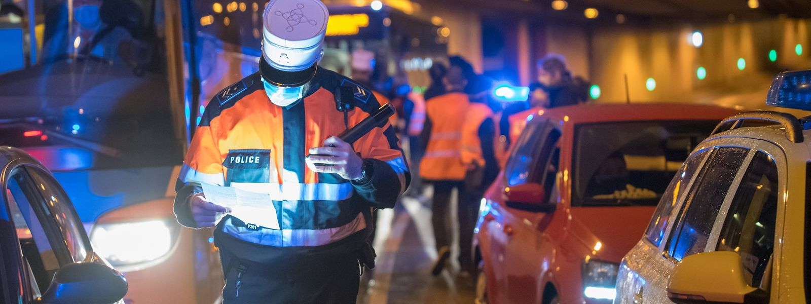 Die Polizei führt regelmäßig Kontrollen im Zusammenhang mit den Covid-Auflagen durch.