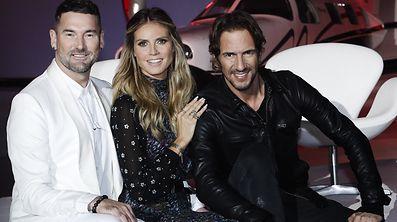 """Neue Regeln, bewährtes Team: Heidi Klum, Michael Michalsky (l.) und Thomas Hayo (r.) suchen wieder nach """"Germany's next Topmodel""""."""
