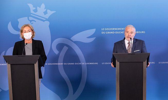 Health Minister Paulette Lenert and Deputy Prime Minister Dan Kersch