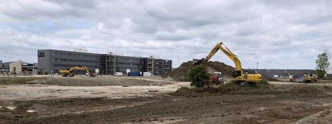 Sur le site du campus, seule la construction du bâtiment de l'entreprise IEE avance à grands pas.