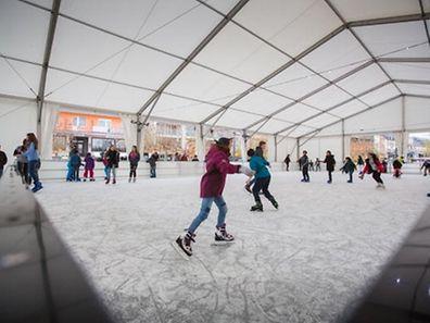 In Remich ist die Eispiste noch bis zum 29. Januar geöffnet.