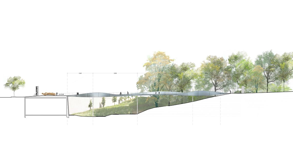 A drawing of the future bridge