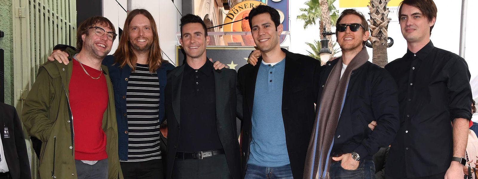 Hollywood 2017: Adam Levine (3.v.l.) mit seiner Band Maroon 5.