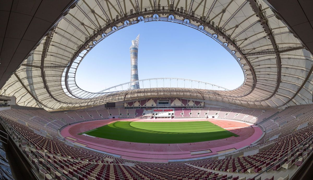 Le Khalifa Stadium au Qatar