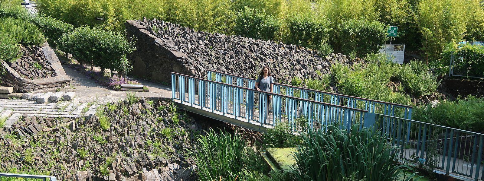 Im Jardin de Wiltz kann man sich vom Studienstress erholen.