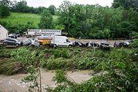 inondations Mullerthal - Garage Grondhaff -  Photo : Pierre Matgé