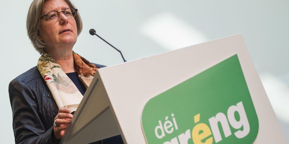Präsidentin der Partei Déi Gréng Françoise Folmer.