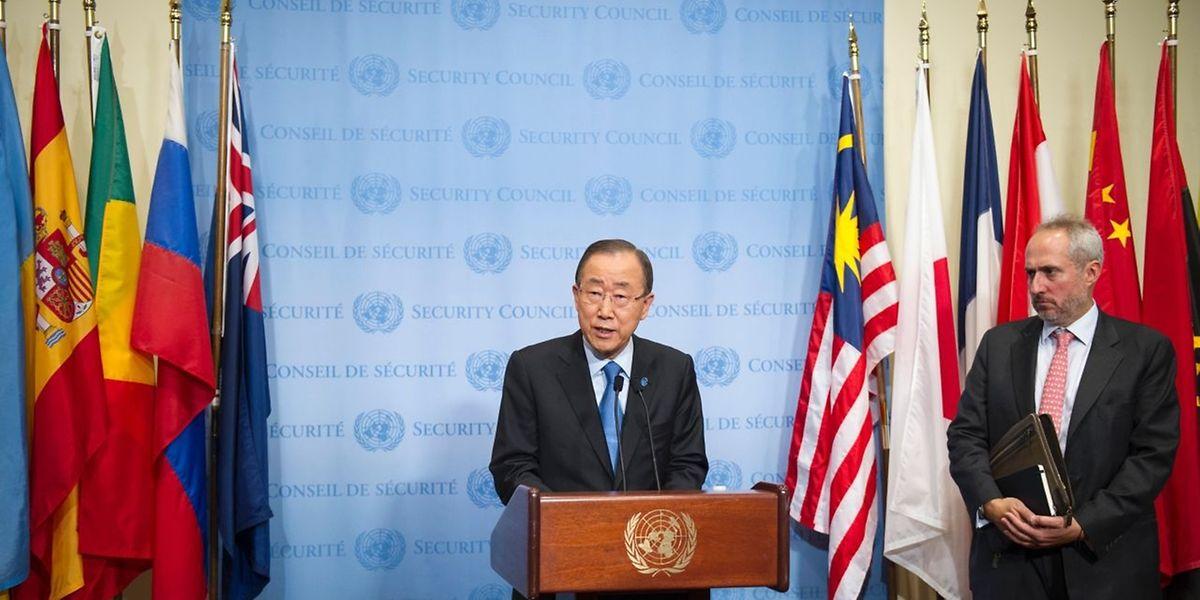 """UN-Generalsekretär Ban Ki Moon kritisierte den Atomtest Nordkoreas vom Freitag auf das Schärfste und forderte vom UN-Sicherheitsrat eine """"angemessene Reaktion""""..."""