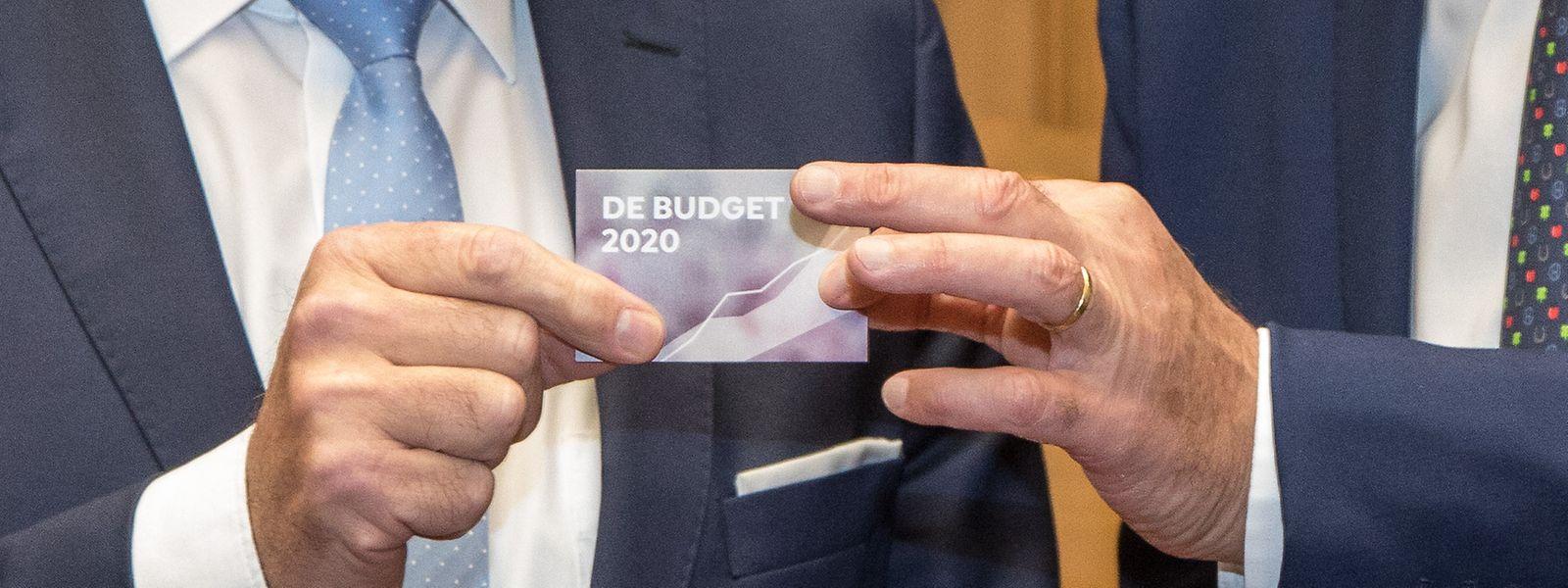 Ein Haushalt à la carte: Die Abgeordneten können das Budget 2020 dieses Jahr per QR-Code abrufen.
