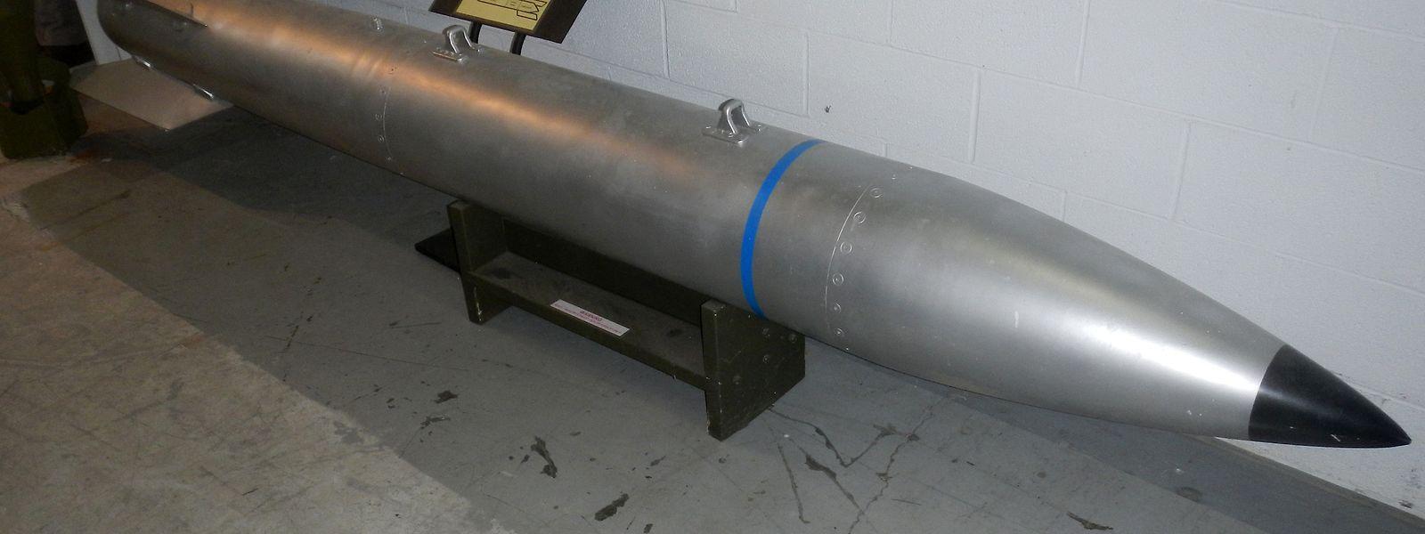 Eine Atombombe des Typs B61 in einem Museum. Die aktuell in Belgien gelagerten Waffen gehören einem neuen Typ B61-12 an.