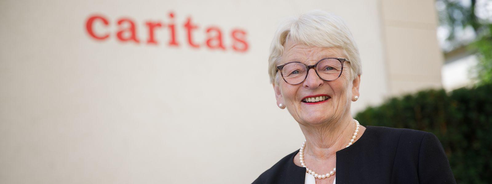 """Caritas-Präsidentin Marie-Josée Jacobs: Die Corona-Krise hat """"unvorhergesehene finanzielle Folgen""""."""
