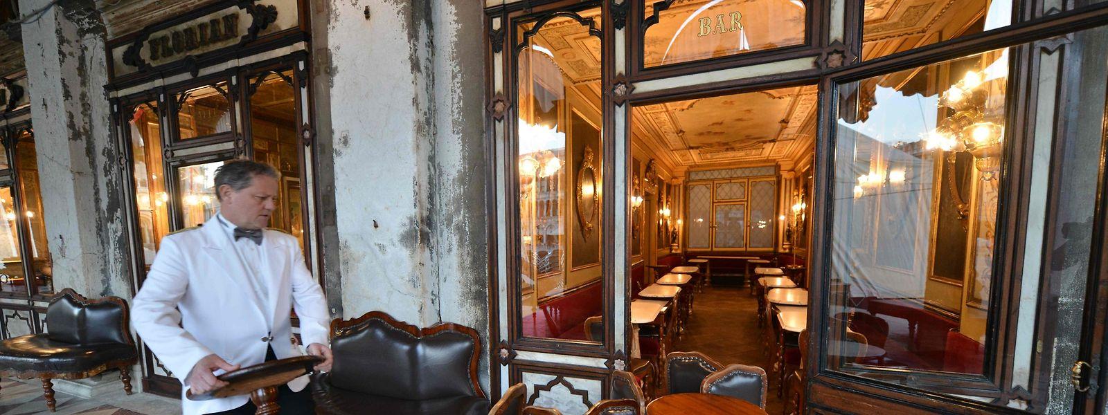 Den Cafés in der Touristenmetropole Venedig brechen die Einnahmen weg.