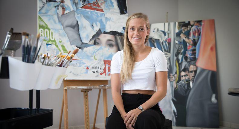 Ein Ort der Ruhe und Entfaltung: Sandra Lieners hat ihr Atelier zu ihrem Zuhause gemacht.