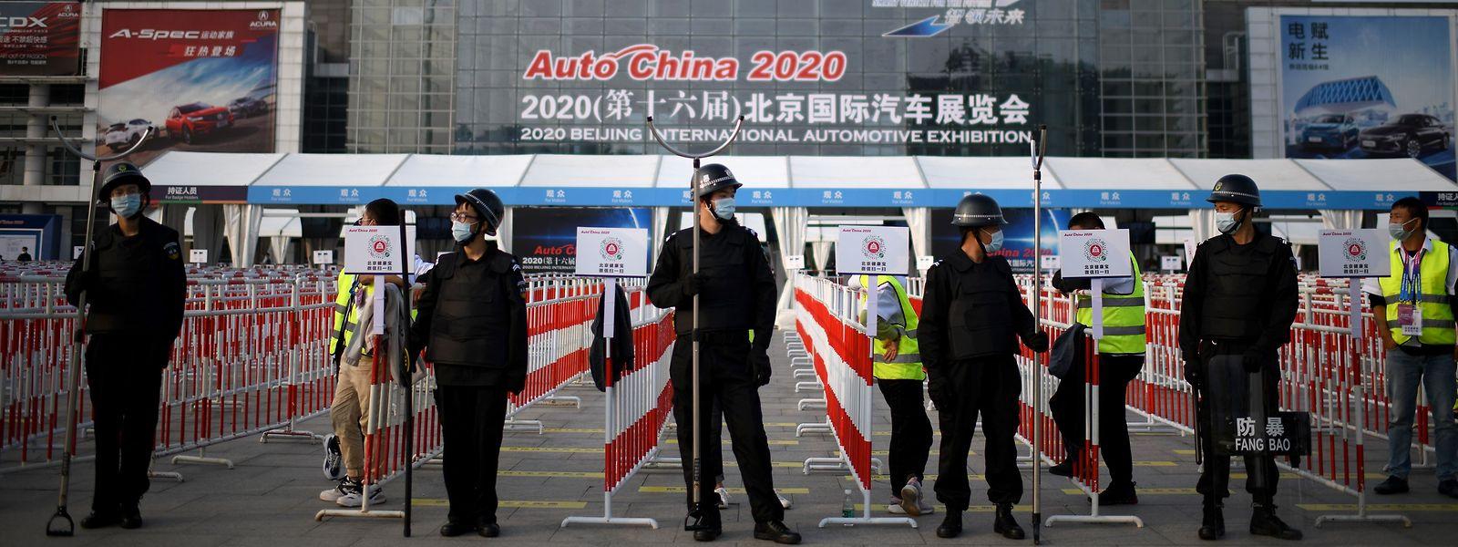 Die Auto China ist die erste große Ausstellung der Branche seit Ausbruchs der Pandemie.