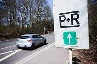 Park & Ride-Schild, P&R, Foto Lex Kleren