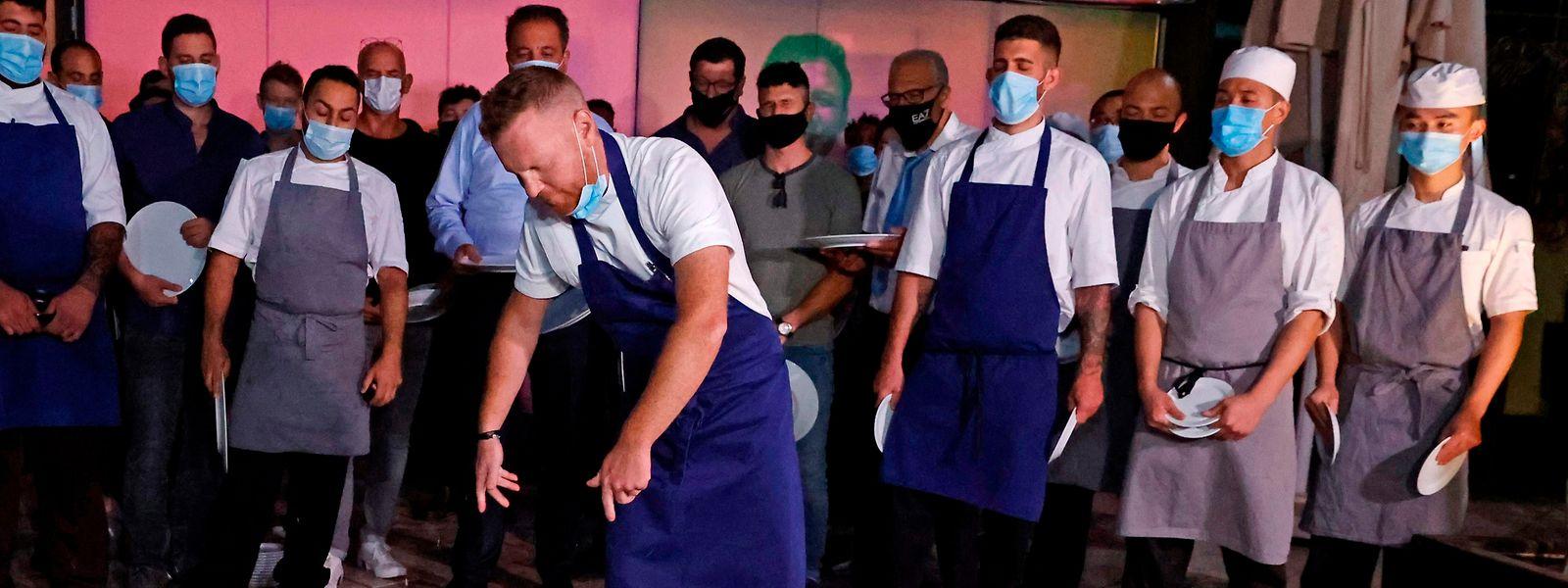 De nombreux restaurateurs ont protesté contre le nouveau lockdown imposé par les autorités israéliennes.