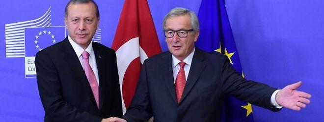 Richtungsweisend: EU-Kommissionschef Juncker mit Präsident Erdogan in Brüssel.