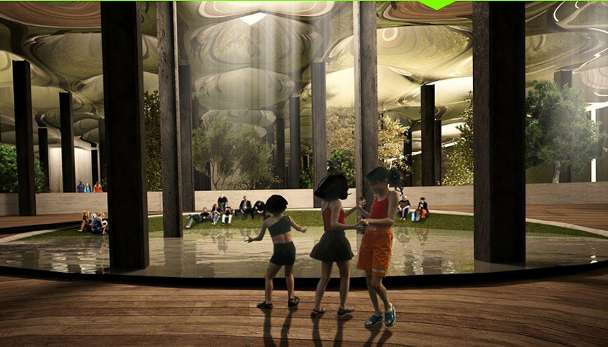 So soll der unterirdische Park später aussehen.