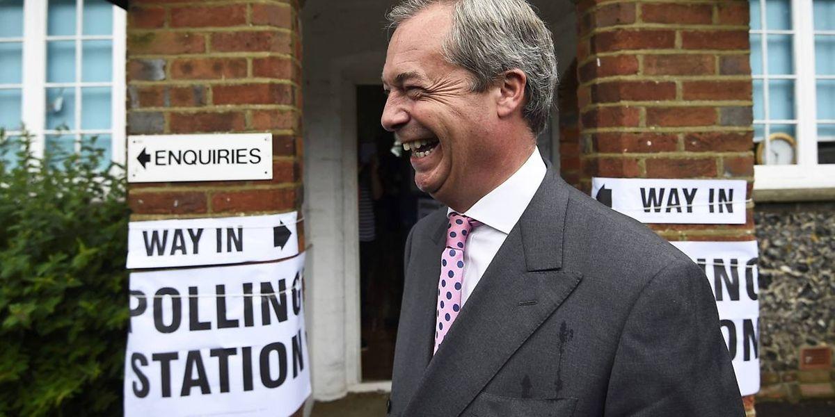 """Nigel Farage, Anführer der United Kingdom Independence Party (UKIP), macht """"sein eigenes Ding""""."""