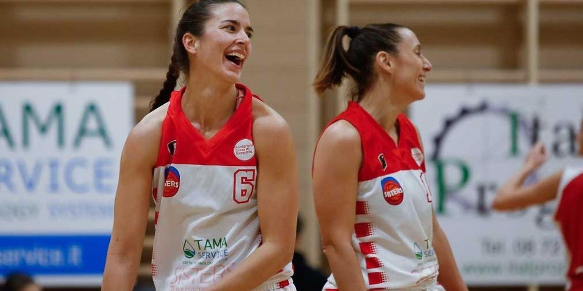 Nadia Mossong (l.) und ihre Teamkollegin Benedetta Consorti haben ein gutes Verhältnis.