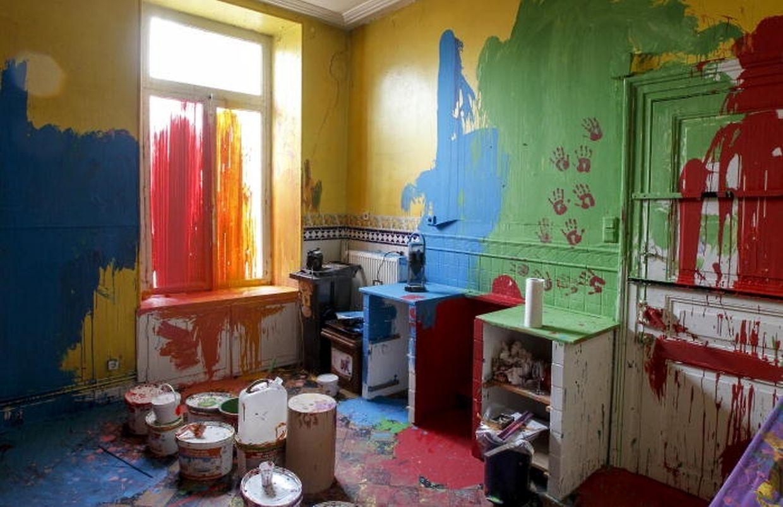"""Die Zimmer des Hauses """"Quartier3"""" werden von jedem Künstler unterschiedlich gestaltet."""