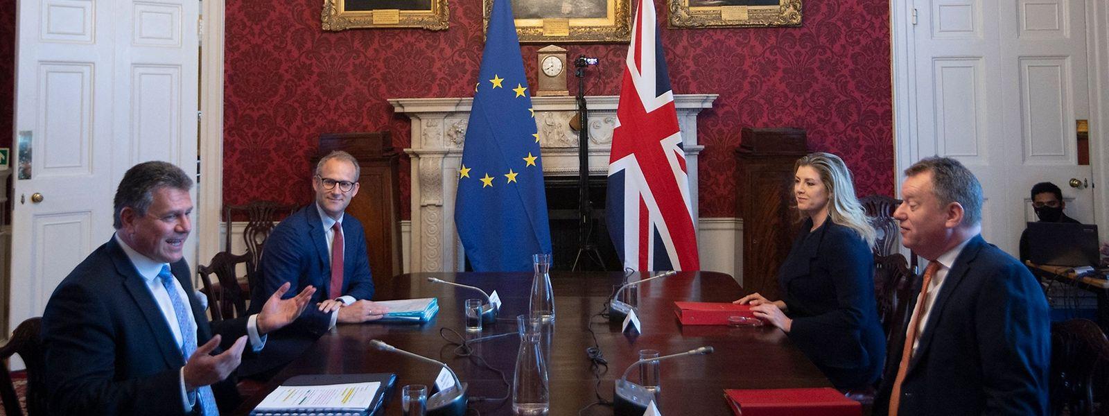 Verhärtete Fronten: Die EU und Großbritannien sind in Sachen Nordirland noch nicht auf einen gemeinsamen Nenner gekommen.