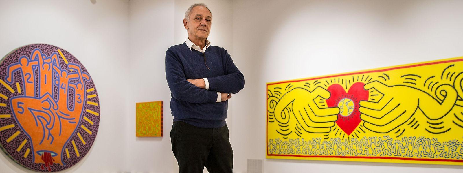 """Kurator Gianni Mercurio traf Keith Haring als """"einfachen, großzügigen und offenen"""" Künstler."""