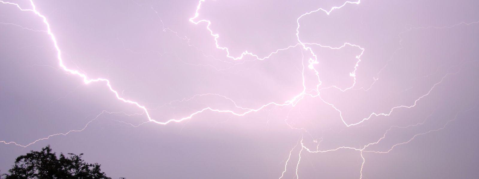 Ab 14 Uhr sollte mit Gewittern gerechnet werden.