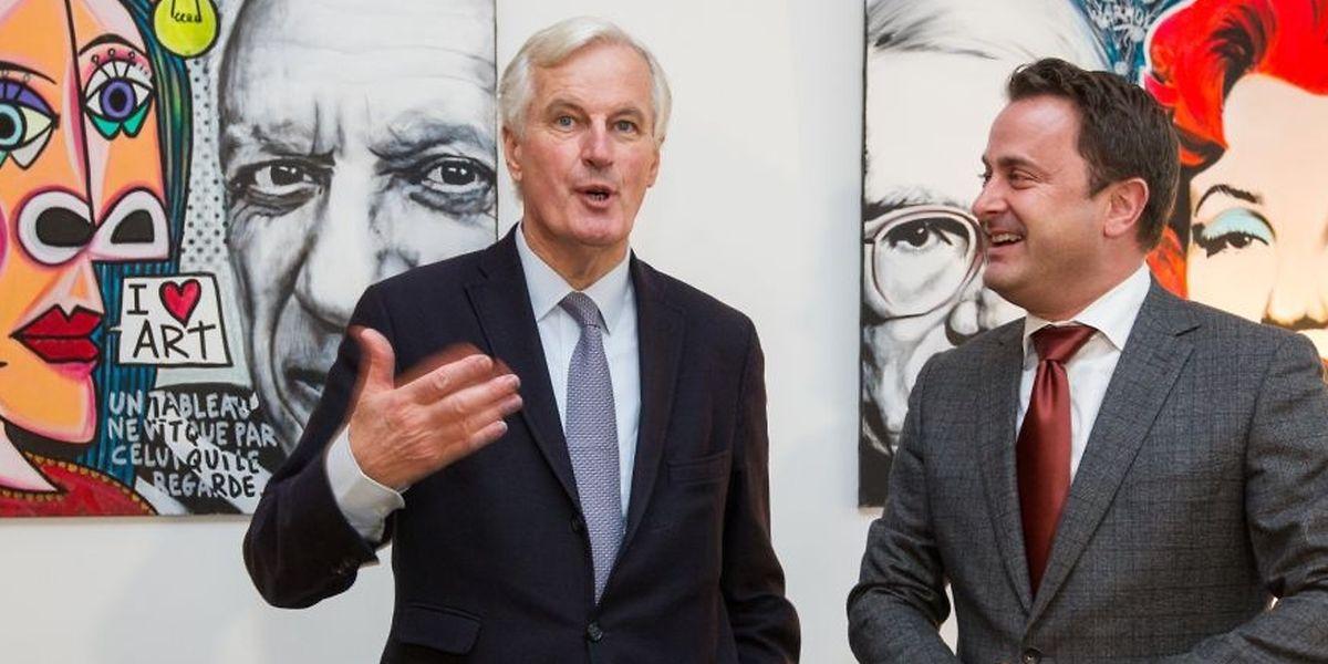 Miche Barnier et Xavier Bettel au Luxembourg en octobre 2016.
