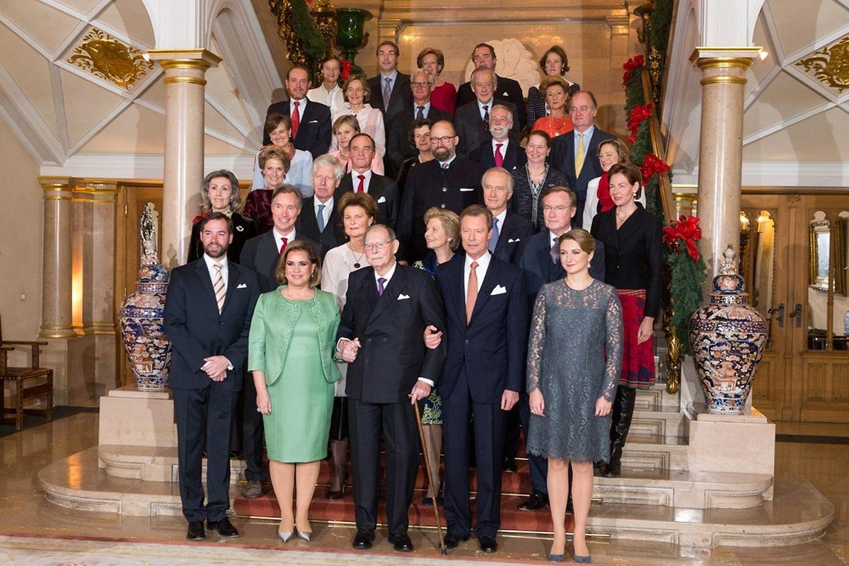 La famille grand-ducale.