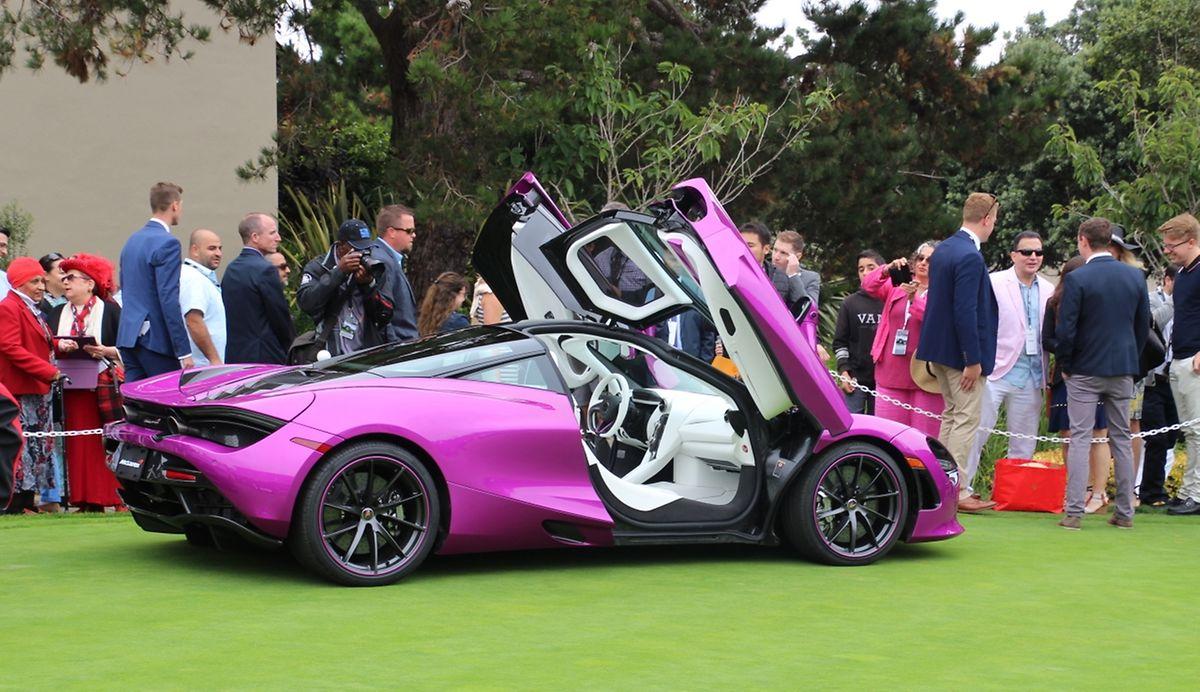 """Luxus-Bonbon: McLaren zeigte einen auf Kundenwunsch in """"Fuchsia-Pink"""" lackierten 720S."""