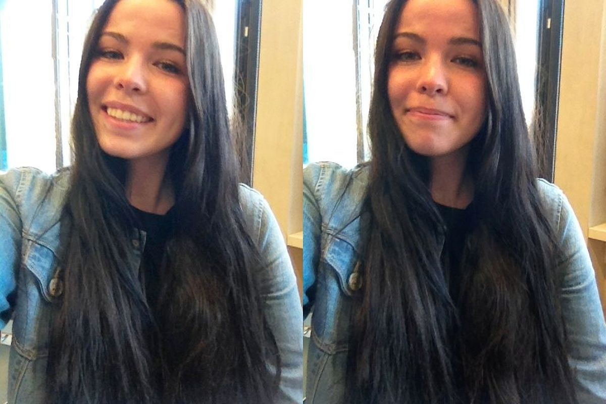 Anastasia adore la photo… en selfie aussi!