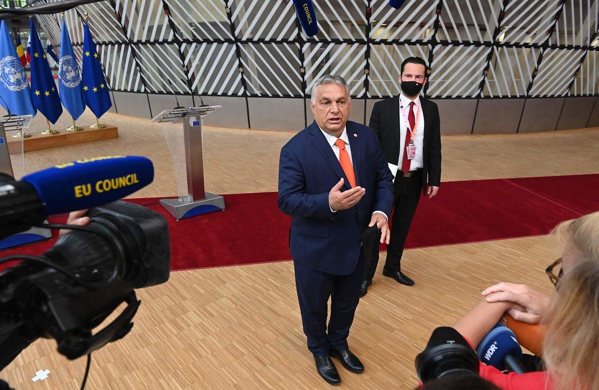 Viktor Orbán am Donnerstag in Brüssel.