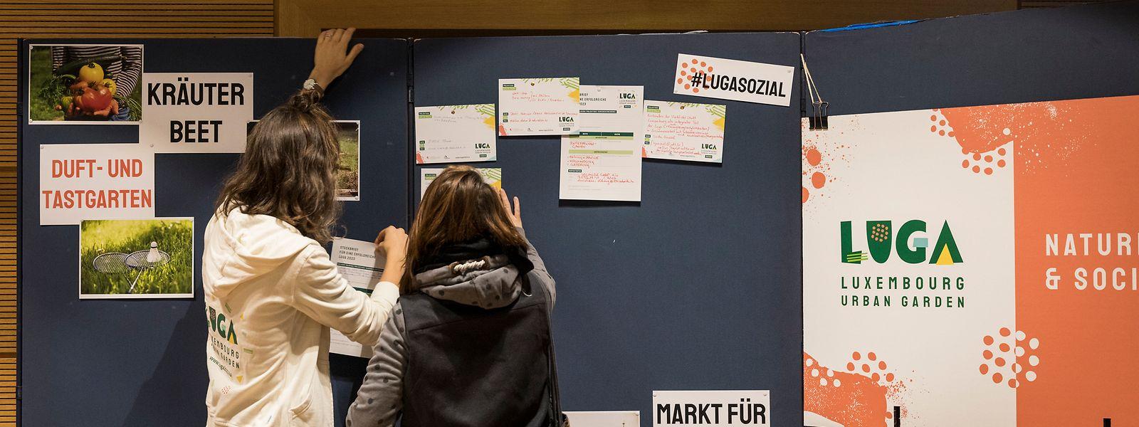 Über 100 Bürger beteiligten sich am Workshop und trugen Ideen zusammen.