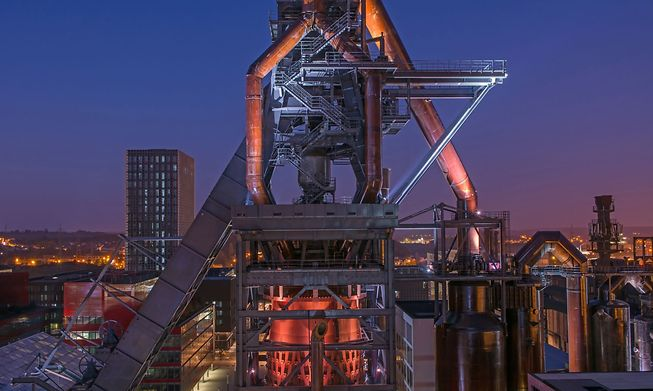 Blast furnace A in Belval is 82 metres high and has a viewing platform